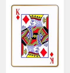King diamonds playing card vector