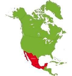 Location of Mexico vector image
