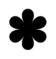 logo in the form of a black silhouette of a flower vector image