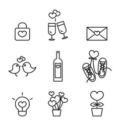 love line icons vector image