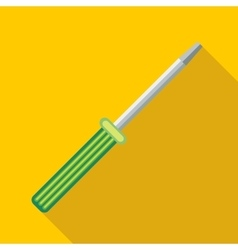Manual screwdriver icon flat style vector image