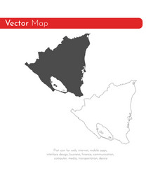 map nicaragua isolated black vector image