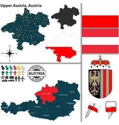Map upper austria vector