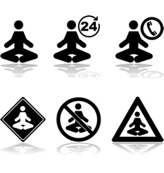 Meditation icons vector image