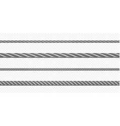 metal hawser rope steel cord different sizes vector image