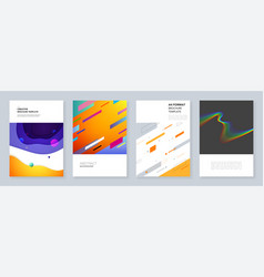 minimal brochure templates with geometric colorful vector image