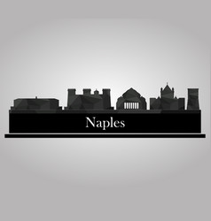 naples skyline vector image