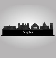 Naples skyline vector