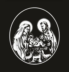 nativity of Jesus vector image