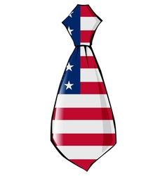 necktie in national colours of USA vector image