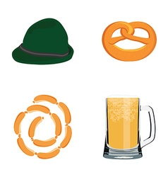 Oktoberfest icons vector image
