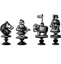 Old chessmen vector