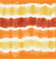 Orange yellow tie dye stripes seamless vector