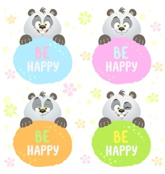 panda set vector image