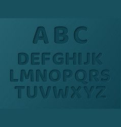 paper cut letters with dotted pattern vector image