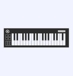 Piano or electronic keyboard keys line art icon vector