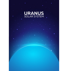 poster planet uranus and solar system space vector image
