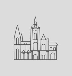 Prague castle vector