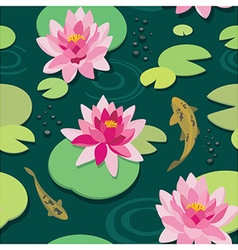 Quiet pond seamless pattern vector image