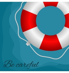 Red buoy vector image