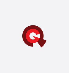 red logo letter q and g icon vector image