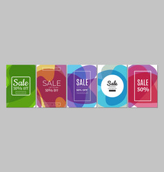 sale banners discount flyers template up 50 vector image