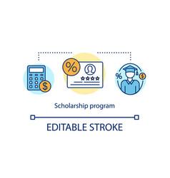 Scholarship program concept icon vector