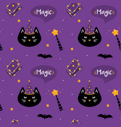 seamless pattern for magic and halloween design vector image