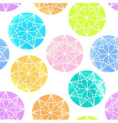 Seamless pattern made of watercolor diamonds on wh vector