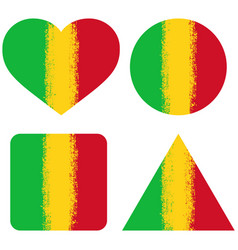 set 4 flags of mali vector image