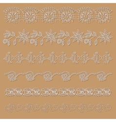 Set lace ribbons vector