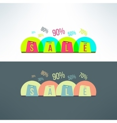 shopping sale background with bags vector image