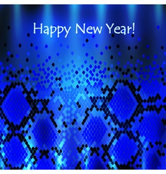 Snake New Year Background vector image