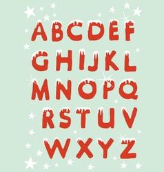 Snowy Christmas Alphabet vector