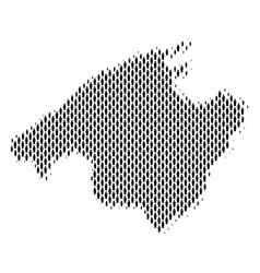 spain mallorca island map population demographics vector image
