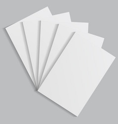 stack of white sheets of paper with shadows vector image