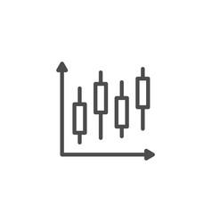 stock graph line icon vector image