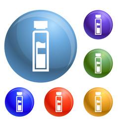 syringe icons set vector image