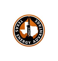 texas energy advantage oil mining vector image