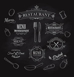 typographical element for menu restaurant vector image