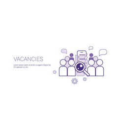 vacancies job position business concept template vector image
