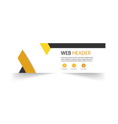 web header template abstract yellow black backgrou vector image