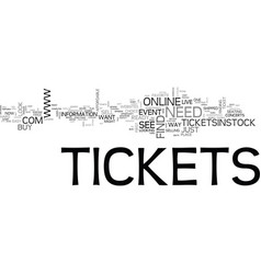 Where to find concert tickets and other event vector
