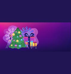 winter holidays concept banner header vector image