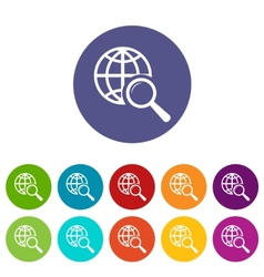 World scan flat icon vector image