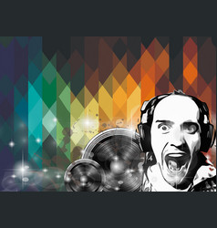 Mordern Crazy Dj club Flyer vector image vector image