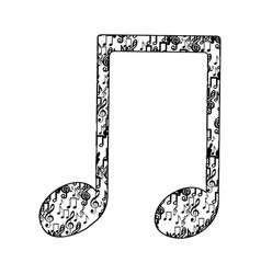 musical note monochrome silhouette formed by vector image