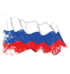 Russia National Flag Grunge vector image