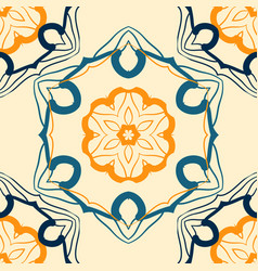 seamless indian mandala pattern for printing on vector image vector image