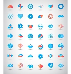 set of 42 abstract logos icons vector image